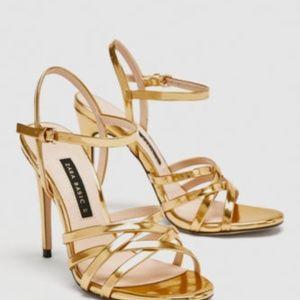 Beautiful ZARA Gold Sandals